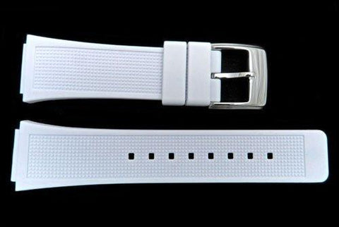 Genuine Kenneth Cole White Polyurethane 24mm Watch Band