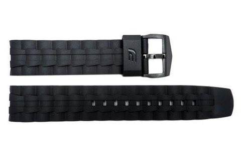 Genuine Casio Edifice Black Resin 22mm Replacement Watch Strap