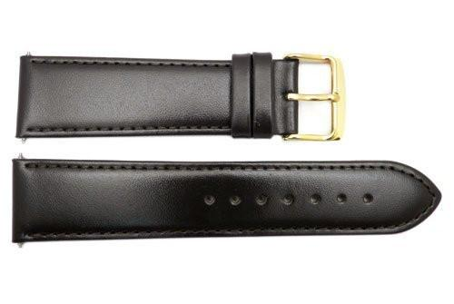 Smooth Brown Genuine Leather 22mm Watch Band