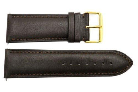 Genuine Smooth Brown Leather 26mm Watch Band