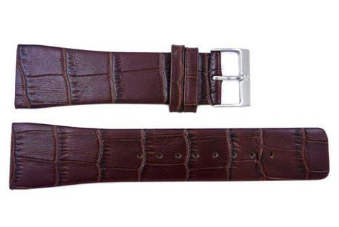 Genuine Skagen Brown Genuine Leather 25mm Watch Strap - Screws