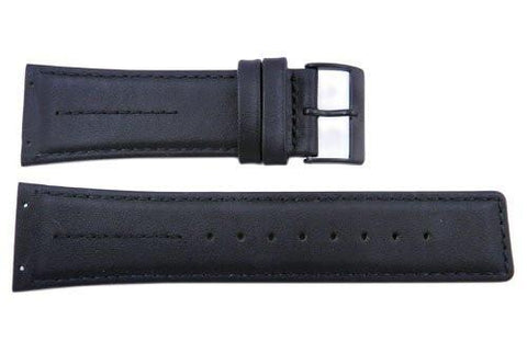 Genuine Skagen Black Genuine Leather 26mm Watch Strap - Screws