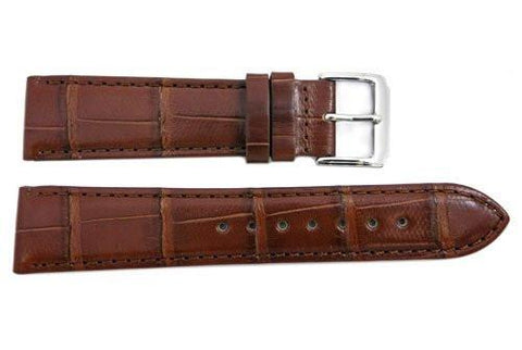 Honey Genuine Alligator Leather Watch Strap