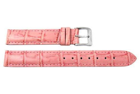 Genuine Citizen Coral Pink Alligator Grain 14mm Leather Watch Strap