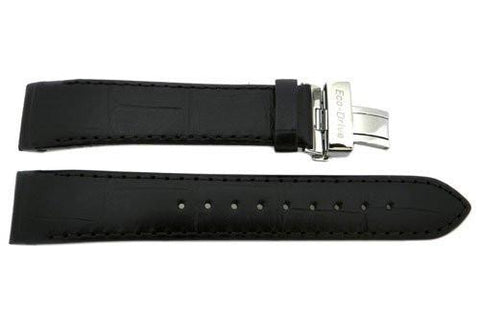Genuine Citizen Eco-Drive Black Alligator Grain 20mm Watch Strap