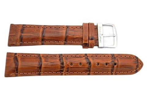 Genuine Citizen Eco-Drive Light Brown Alligator Grain 20mm Leather Watch Strap