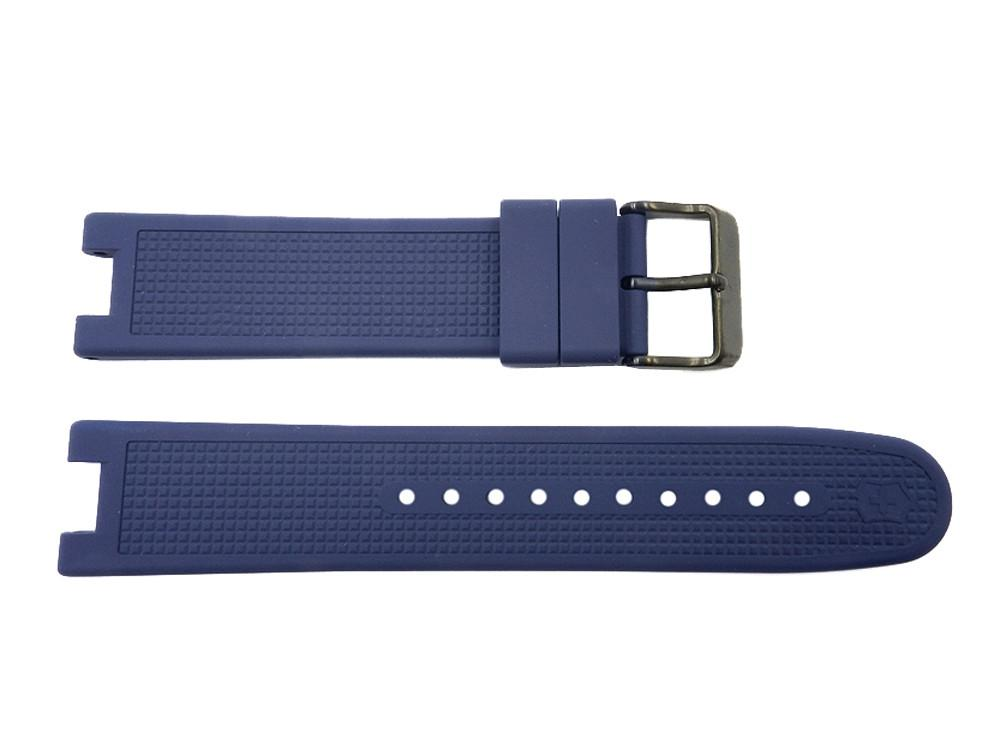 Swiss Army Victorinox Night Vision 21mm Navy Blue Rubber Watch Strap