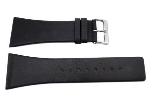 Genuine Skagen Black Genuine Leather 32mm Watch Strap - Screws