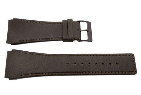Genuine Skagen Brown Genuine Leather 30mm Watch Strap - Pins