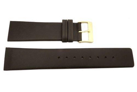 Genuine Skagen Brown Smooth Leather 23mm Watch Strap - Screws