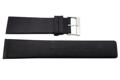 Genuine Skagen Black Smooth Leather 23mm Watch Strap - Screws