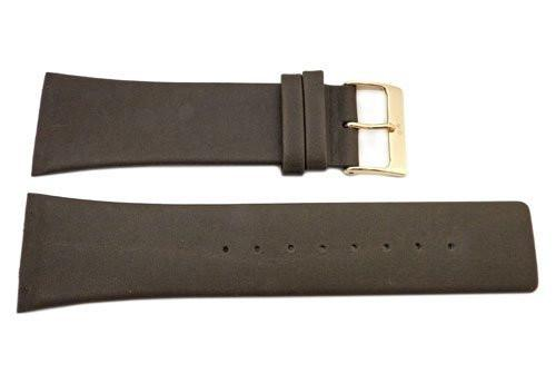 Genuine Skagen Brown Genuine Leather 28mm Watch Strap - Screws