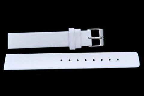 Genuine Skagen Ladies White Smooth Leather 14mm Watch Strap - Screws