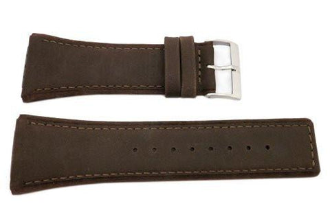 Genuine Skagen Brown Genuine Leather 32mm Watch Strap - Screws