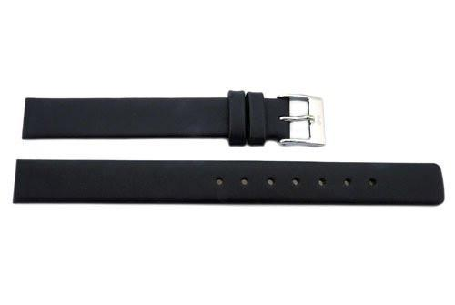 Genuine Skagen Ladies Black Smooth Leather 12mm Watch Strap - Screws