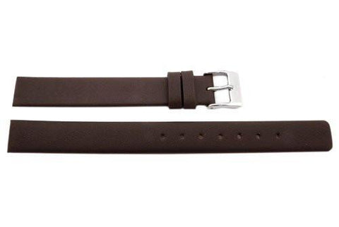 Genuine Skagen Ladies Brown Smooth Leather 12mm Watch Strap - Screws