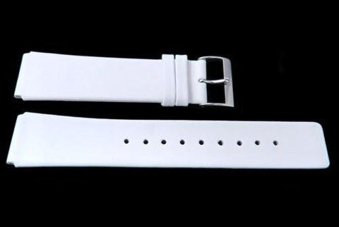 Genuine Skagen White Smooth Leather 20mm Watch Strap - Pins