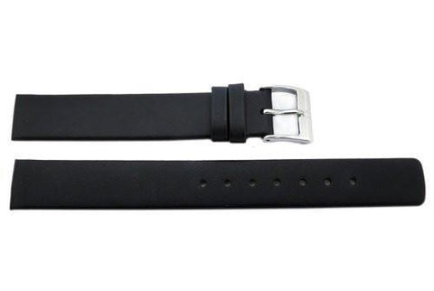 Genuine Skagen Ladies Black Smooth Leather 15mm Watch Strap - Screws