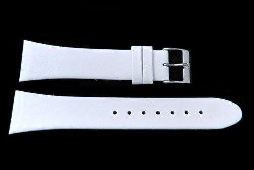 Genuine Skagen White Smooth Tapered Leather 22mm Watch Strap - Screws