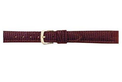 Hadley Roma Brown Semi Matte Lizard Grain Long Watch Band