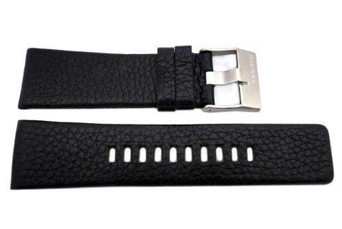 Genuine Diesel Master Chief Black Textured Leather 28mm Watch Band