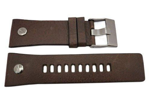 Genuine Diesel Mr. Daddy Series Brown Textured Leather 28mm Watch Band