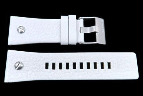 Genuine Diesel Big Daddy Series White Textured Leather 28mm Watch Band