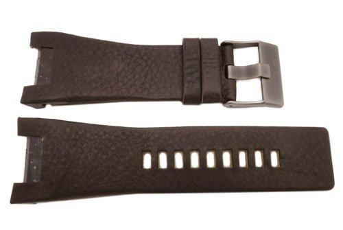 Genuine Diesel Bugout Series Dark Brown Textured Leather 32mm Watch Band