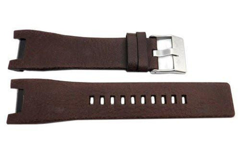 Genuine Diesel Midsized Bugout Series Dark Brown 26mm Leather Watch Band