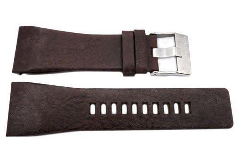 Genuine Diesel Starship Series Dark Brown Textured Leather 30mm Watch Band