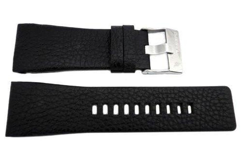 Genuine Diesel Mothership Series Black Textured Leather 30mm Watch Band