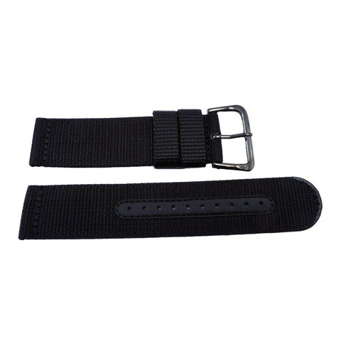 Genuine Seiko Black Nylon 22mm Watch Strap