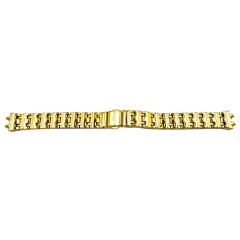 Genuine Seiko Ladies Sporty Gold Tone 14mm Watch Bracelet