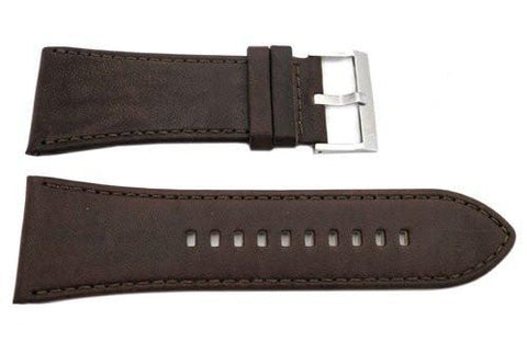 Genuine Armani Exchange Dark Brown Smooth Leather 32mm Watch Band