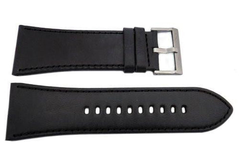 Genuine Armani Exchange Black Smooth Leather 32mm Watch Band