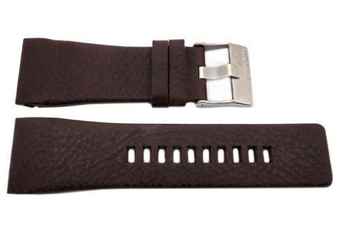 Genuine Diesel Mothership Series Brown Textured Leather 30mm Watch Band