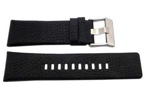 Genuine Diesel Franchise Black Textured Leather 26mm Watch Band