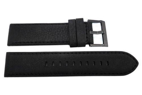 Genuine Armani Exchange Banks Chronograph Black Leather 22mm Watch Band