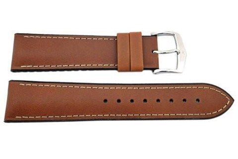 Hirsch James - Gold Brown Genuine Calfleather And Premium Caoutchouc Watch Strap