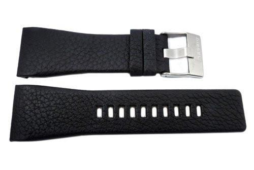 Genuine Diesel Starship Series Black Textured Leather 30mm Watch Band