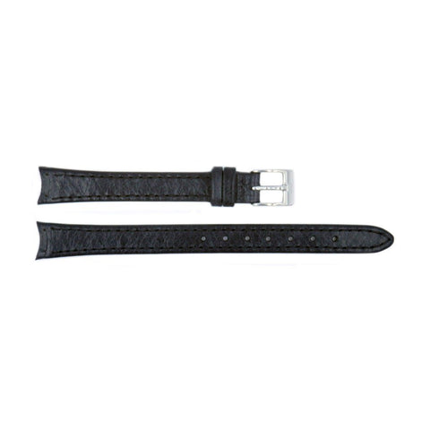 Genuine Skagen 12mm Womens Black Smooth Leather Watch Strap - Screws