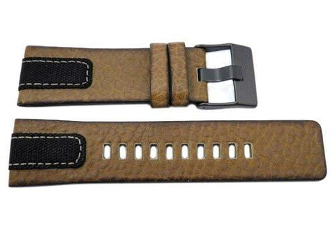 Genuine Diesel Mega Chief Brown Textured Leather 26mm Watch Band