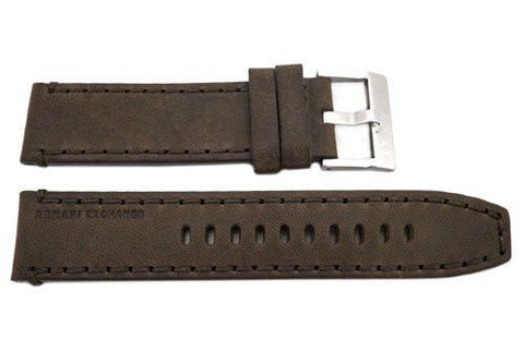 Genuine Armani Exchange Wellworn Dark Brown Leather 22mm Watch Band
