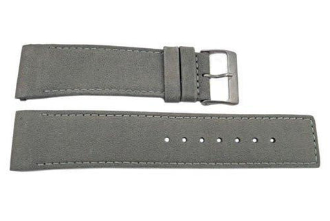 Genuine Skagen Gray Genuine Leather 24mm Watch Strap - Pins
