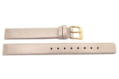 Genuine Skagen Ladies Beige Smooth Leather 12mm Watch Strap - Screws