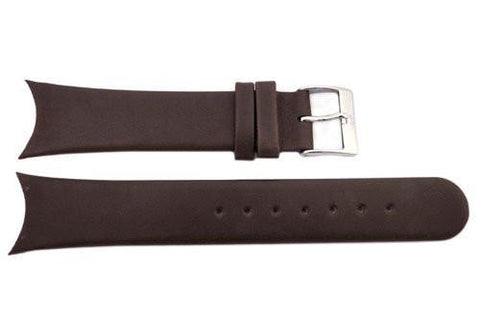 Genuine Skagen Dark Brown Genuine Leather 20mm Watch Strap - Screws