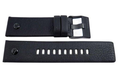 Genuine Diesel Little Daddy Series Black Textured Leather 24mm Watch Band