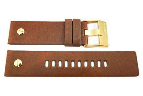 Genuine Diesel Little Daddy Series Tan Textured Leather 24mm Watch Band