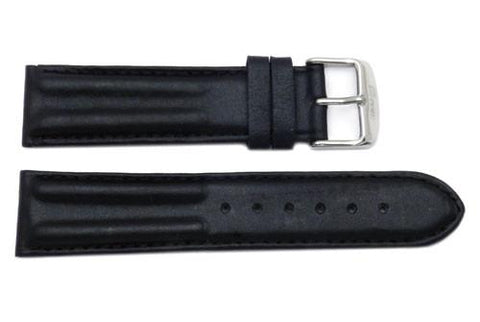 Waterproof Leather Contour Padded Watch Band