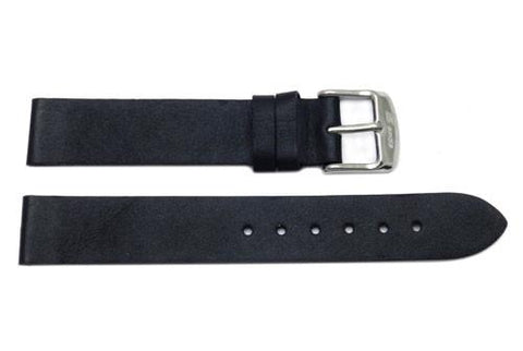 Waterproof Smooth Flat Sport Leather Watch Strap